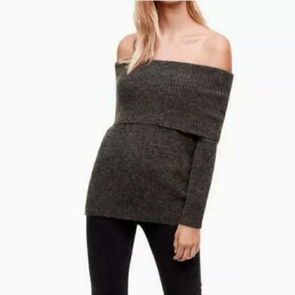 Wilfred Free Faretta Wool Off the Shoulder Sweater